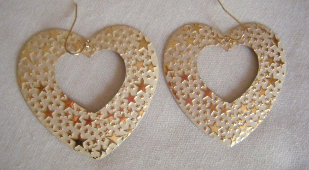 orecchini cuore e stelline di natale
