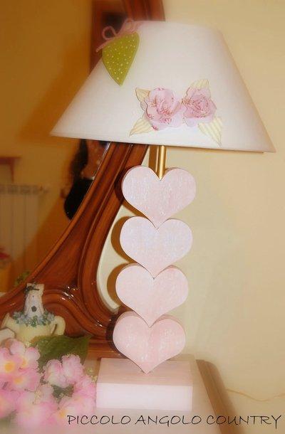 LAMPADA  IN LEGNOSHABBY CHIC