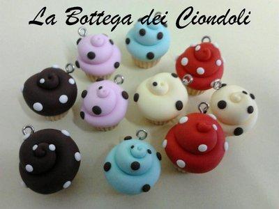 Ciondoli in fimo cupcake