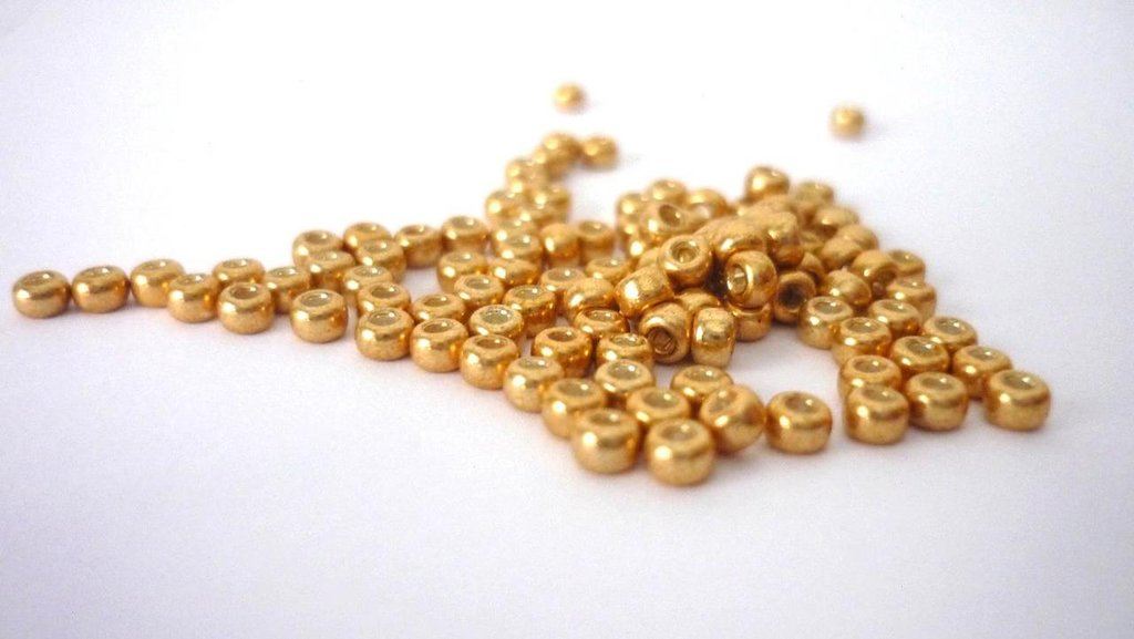 Miyuki Rocailles 8/0 Galvanized Gold