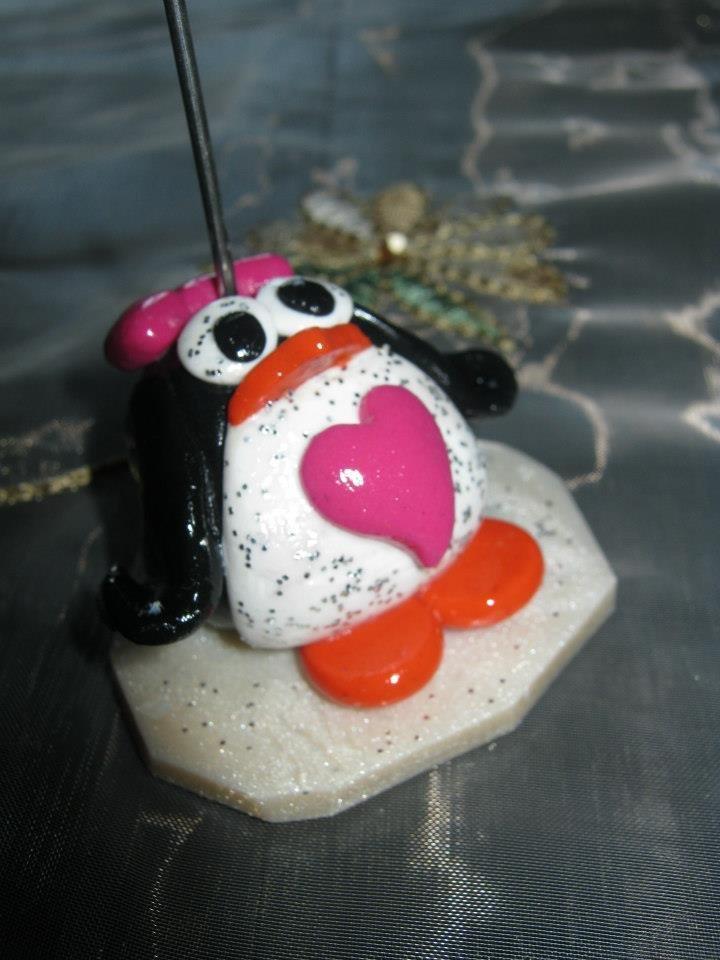 portafoto pinguino