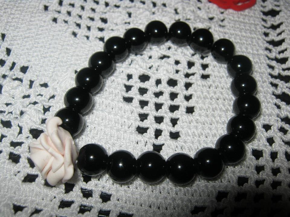 braccialetto elastico con rosellina
