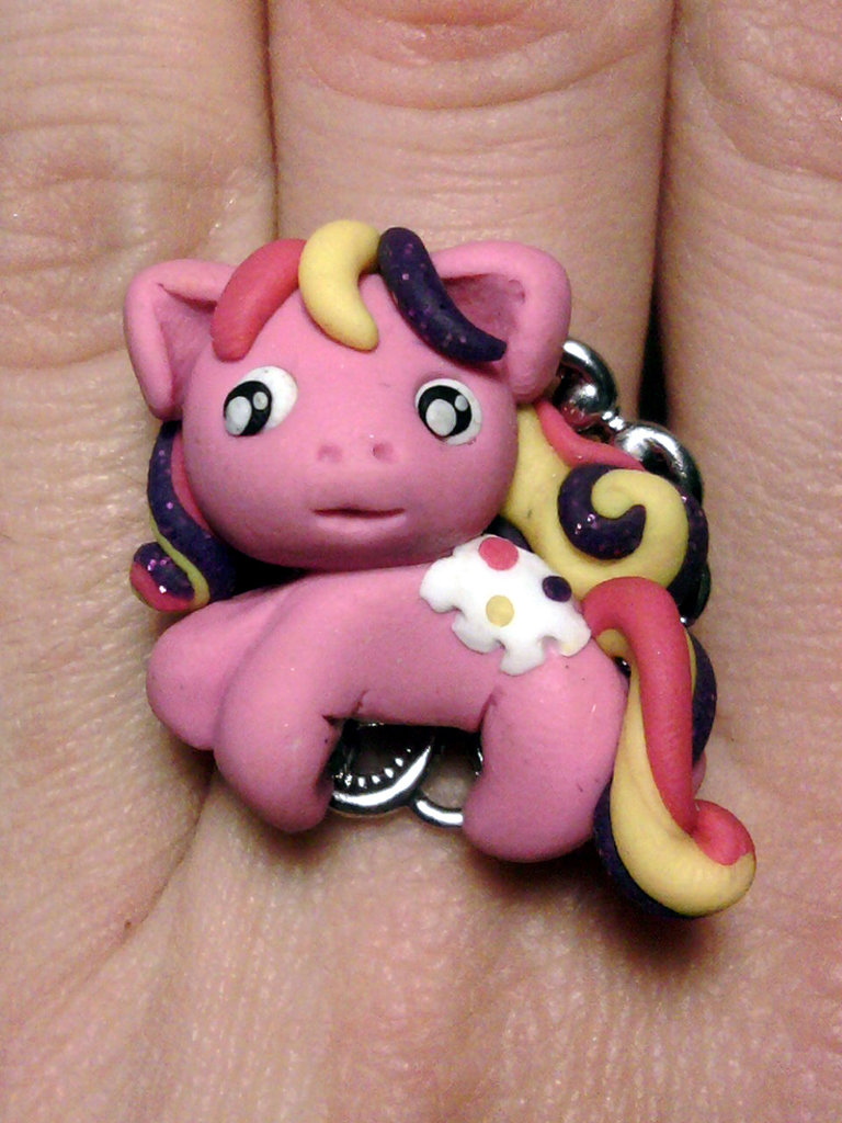 Anello con Mio Mini Pony fimo