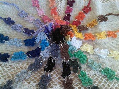 Bracciali farfalline ad uncinetto in cotone