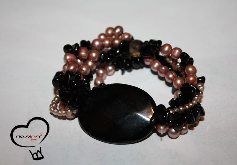 SALDI - Bracciale perle rosa