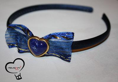 SALDI - Cerchietto cuore blu