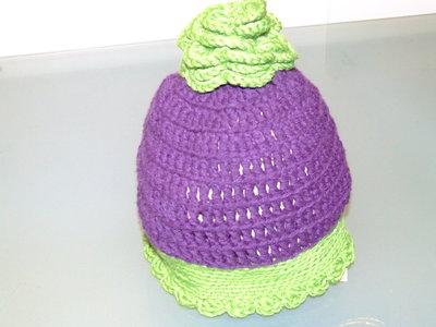 cappellino lana uncinetto bimba