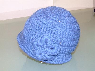 cappello bimba azzurro