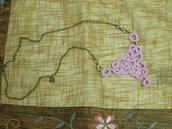 collana rosa al chiacchierino con perline