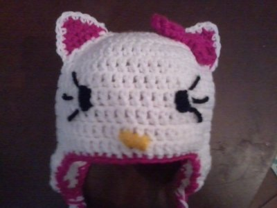 cappello ad uncinetto kitty