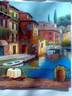 Paesaggio dipinto a mano