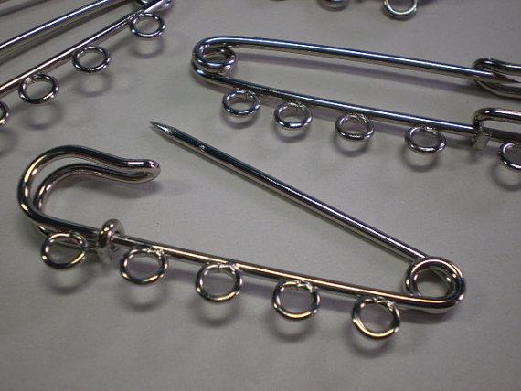 10 Spilloni con 5 anelli Portacharms