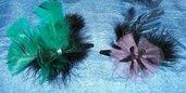 Mollette per capelli con piume 5^^