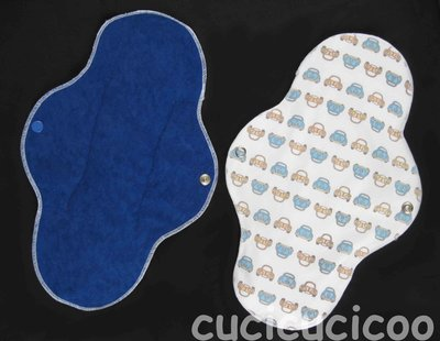 assorbente ultra impermeabile lavabile (vw maggiolini) / ultra waterproof cloth menstrual sanitary pad