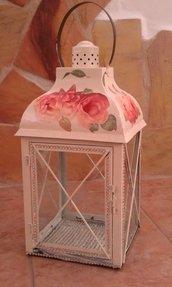 Lanterna in metallo - Rose
