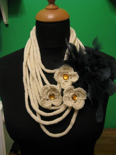 Collana panna in lana