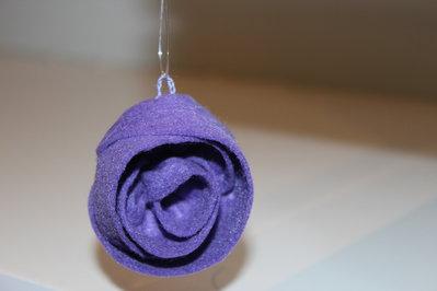 Addobbi per Albero di Natale in pannolenci Rosa Viola