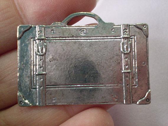 6 Pendenti Valigia in Argento Tibetano