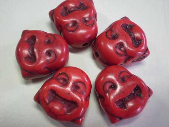 5 Perline Budda ROSSO