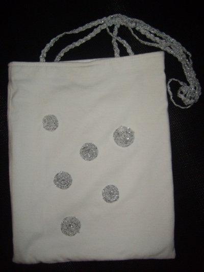 borsa in cotone bianco