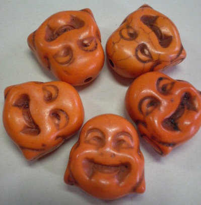 5 Perline Budda ARANCIO