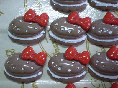 10 Cabochon Resina Biscotto