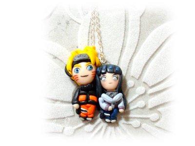 Collana Naruto e Hinata fimo