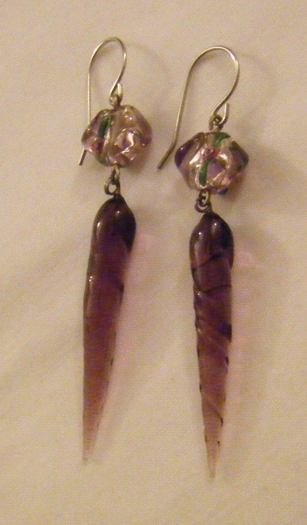 orecchini ,,vetro di murano ,,
