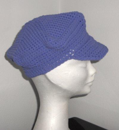 Berretto visiera bambina bimba uncinetto - handmade crochet baby girl cap