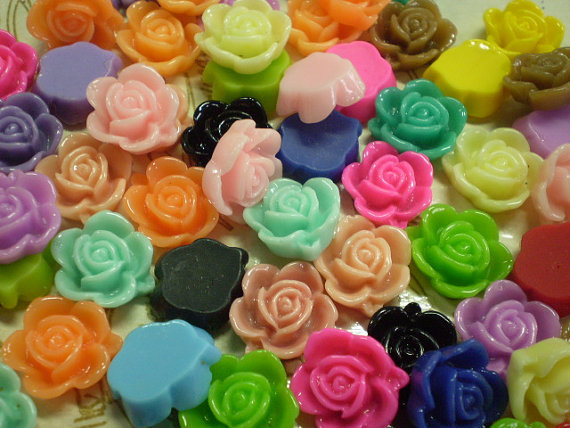 97 Cabochon Rosa di Resina