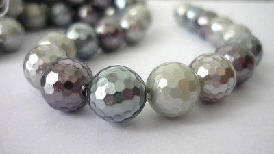 """Perle d'allevamento, sfaccettate, molto luminose, grado """"A"""".  Diametro: 10 mm."""