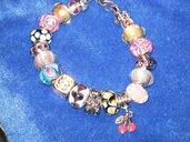 Braccialetto con perle in vetro alla fiamma Pandora - Morellato style