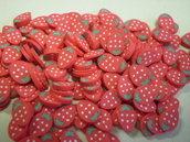 130 Fettine Fragolina da Polymer Clay Canes
