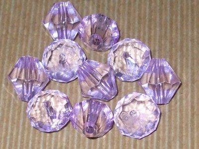 10 perle sfaccettate lilla vend.