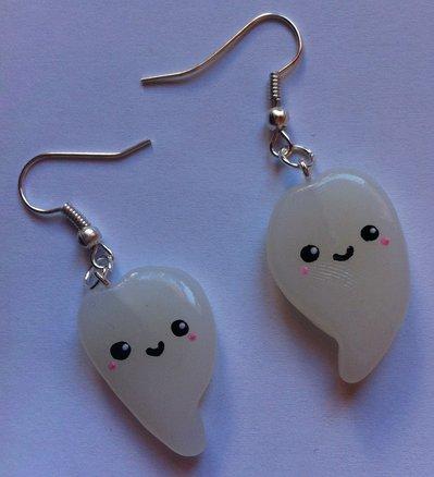 Orecchini Fantasma in Fimo / Polymer Clay Ghosts Earrings