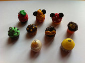 Ciondoli Cupcakes in fimo / Fancy Polymer clay Cupcakes Charms