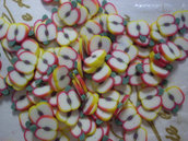 130 Fettine Mela da Polymer Clay Canes