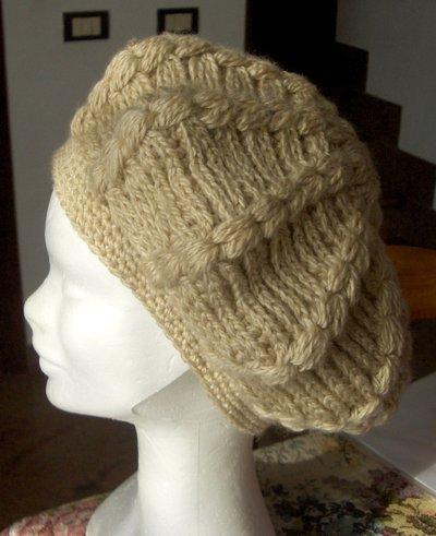 Berretto basco donna uncinetto artigianale - handmade crochet woman cap hat