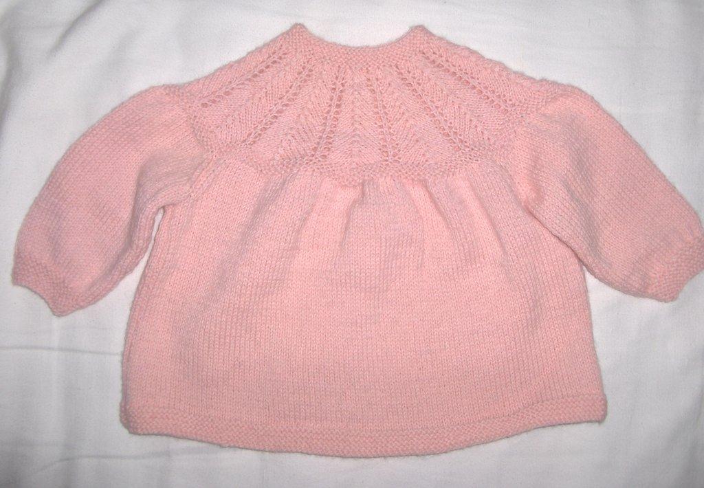 Maglia coprifasce bimba bambina fatta a mano 3/6 mesi