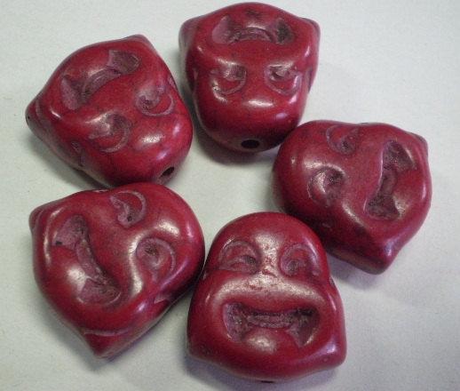 5 Perline Budda ROSSO VINO