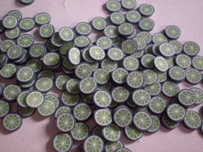 130 Fettine Lime da Polymer Clay Canes
