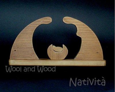 Natività in legno massello