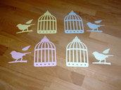 Caged Bird in cartoncino fustellato