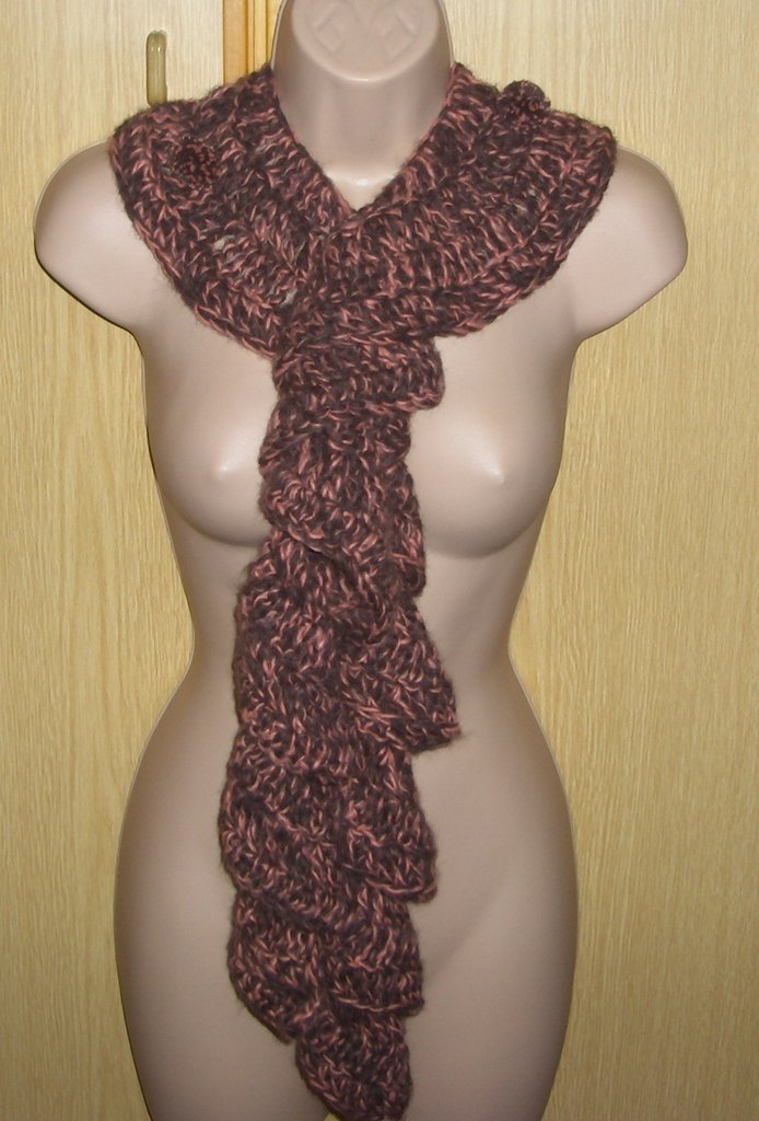 Sciarpa donna uncinetto fatto a mano - handmade crochet woman scarf