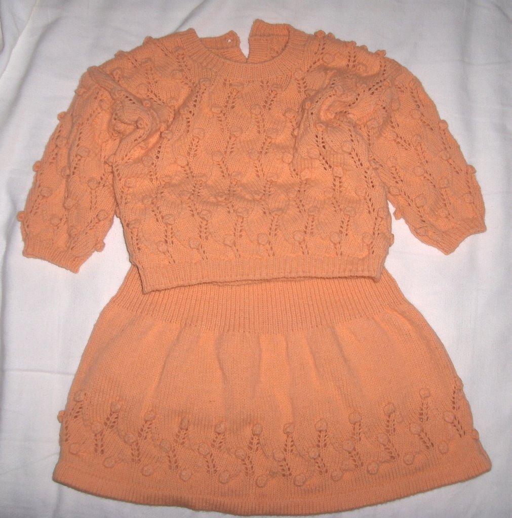 Completo gonna maglia bimba bambina fatto a mano taglia 9/12 mesi