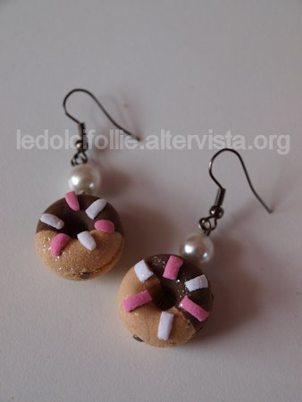 Chocolate Donuts Earring