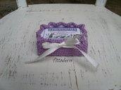 Porta saponetta viola
