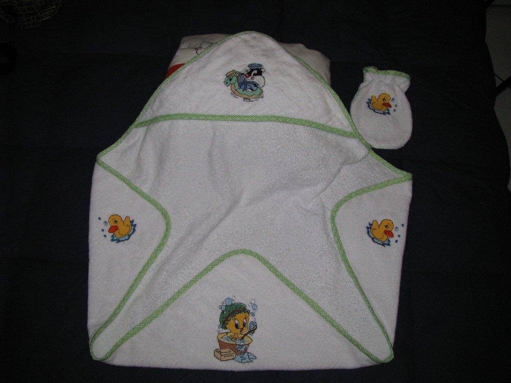 accappatoio baby con guantino