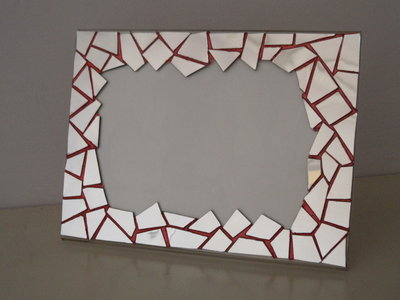 Portafoto in plexiglass e mosaico a specchio