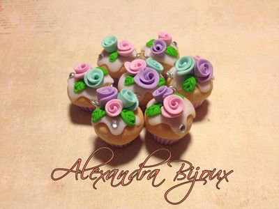 cup cake con roselline colorate